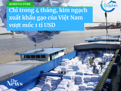 Vietnamese rice exports cross $1 billion on higher prices