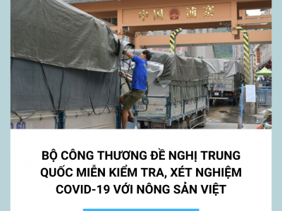 Vietnam requested China to stop Covid-19 inspections on Vietnam imports