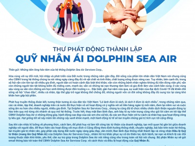 """From Dolphin Sea Air Services Corp's CEO: """"ESTABLISHING DOLPHIN SEA AIR CHARITY FUND"""""""""""